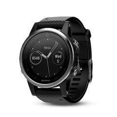 Женские спортивные часы Garmin Fenix 5S - серебристые с черным ремешком 010-01685-02