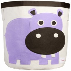 Корзина для игрушек 3 Sprouts Фиолетовый бегемотик 67531
