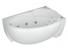 Ванна Aquatek Бетта R 150х95 гидромассажная, с экраном, 6 форсунок спинки