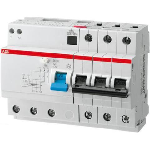 Дифф. автомат. выключатель 3-полюсный 13 А, тип A, 10 кА DS203 M A-C13/0,03. ABB. 2CSR273101R1134