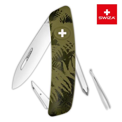 Швейцарский нож SWIZA C02 Camouflage, 95 мм, 6 функций, хаки