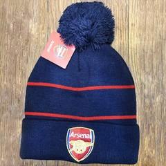 Вязаная шапка с помпоном с логотипом ФК Арсенал (Arsenal)
