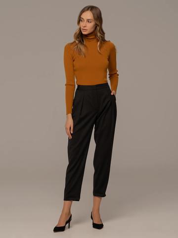 Женский свитер терракотового цвета из 100% шерсти - фото 3