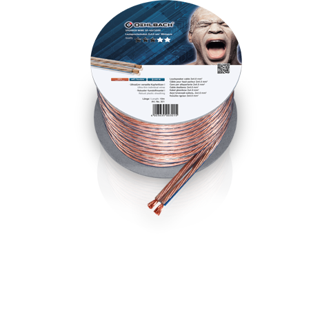 Oehlbach Speaker Cable 2x1,5mm clear 10m, кабель акустический