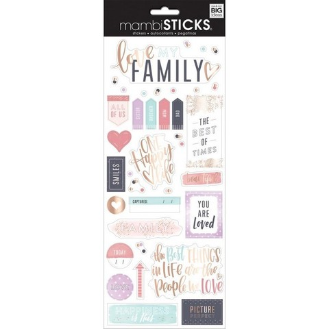 Стикеры ацетатные  mambi Specialty Stickers Family is Everything 13х30 см