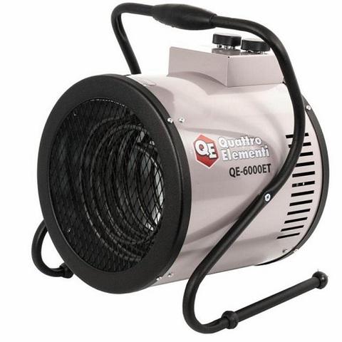 Нагреватель воздуха электрический QUATTRO ELEMENTI  QE-6000ET (4 / 6кВт, 380В-3ф, 820м3/час) — цилиндр (772-258)