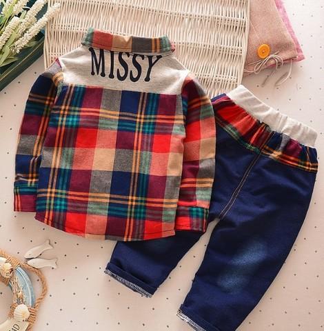 Комплект для мальчика рубашка+брюки красный