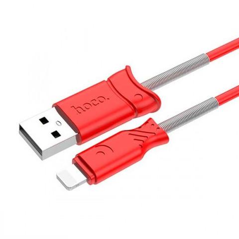 Кабель iPhone 5 HOCO X24 Pisces, 1m. red