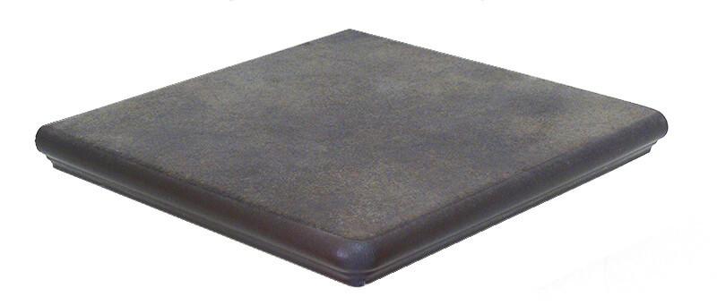 Interbau - Nature Art, Lava schwarz/Серо-коричневый 320x320x9,5 артикул 118 - Клинкерная ступень - фигурный угол