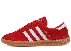 Кроссовки Женские Adidas Hamburg Suede Red White