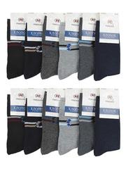 B38 носки мужские 42-48 (12шт), цветные