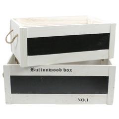 набор из 2-х ящиков 51x36x20, 47x31x18, с доской для записи