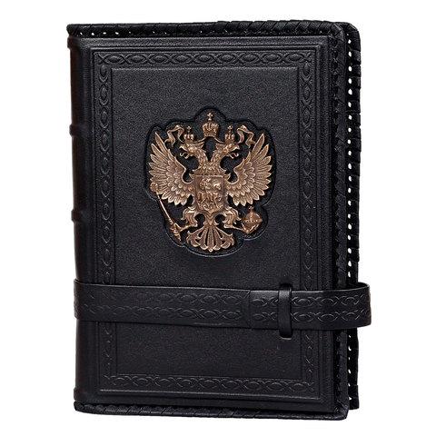Ежедневник кожаный А5 «Россия» А80403