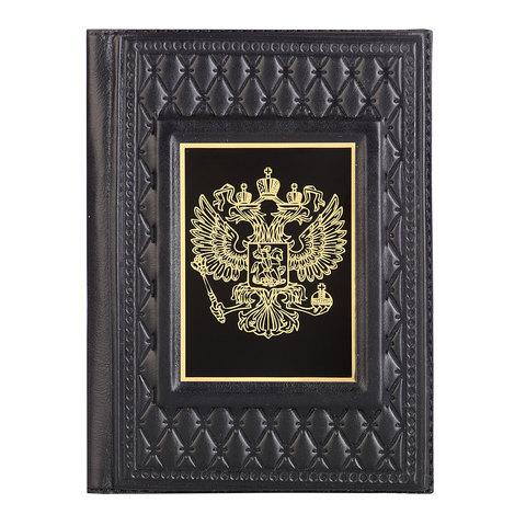 Обложка для паспорта «Герб» черная