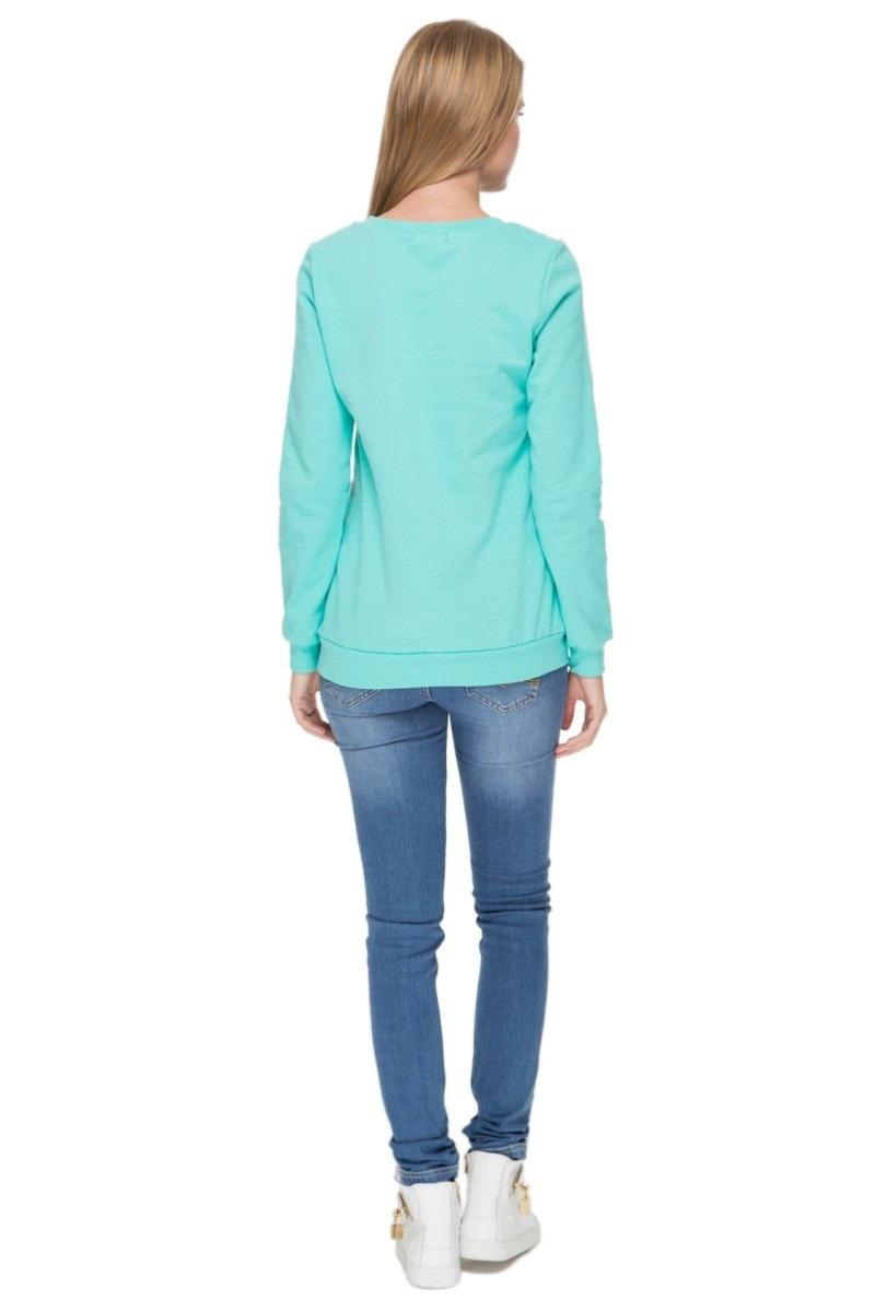 Блузка 08046 зеленый