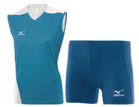 Волейбольная форма Mizuno Trade женская голубая