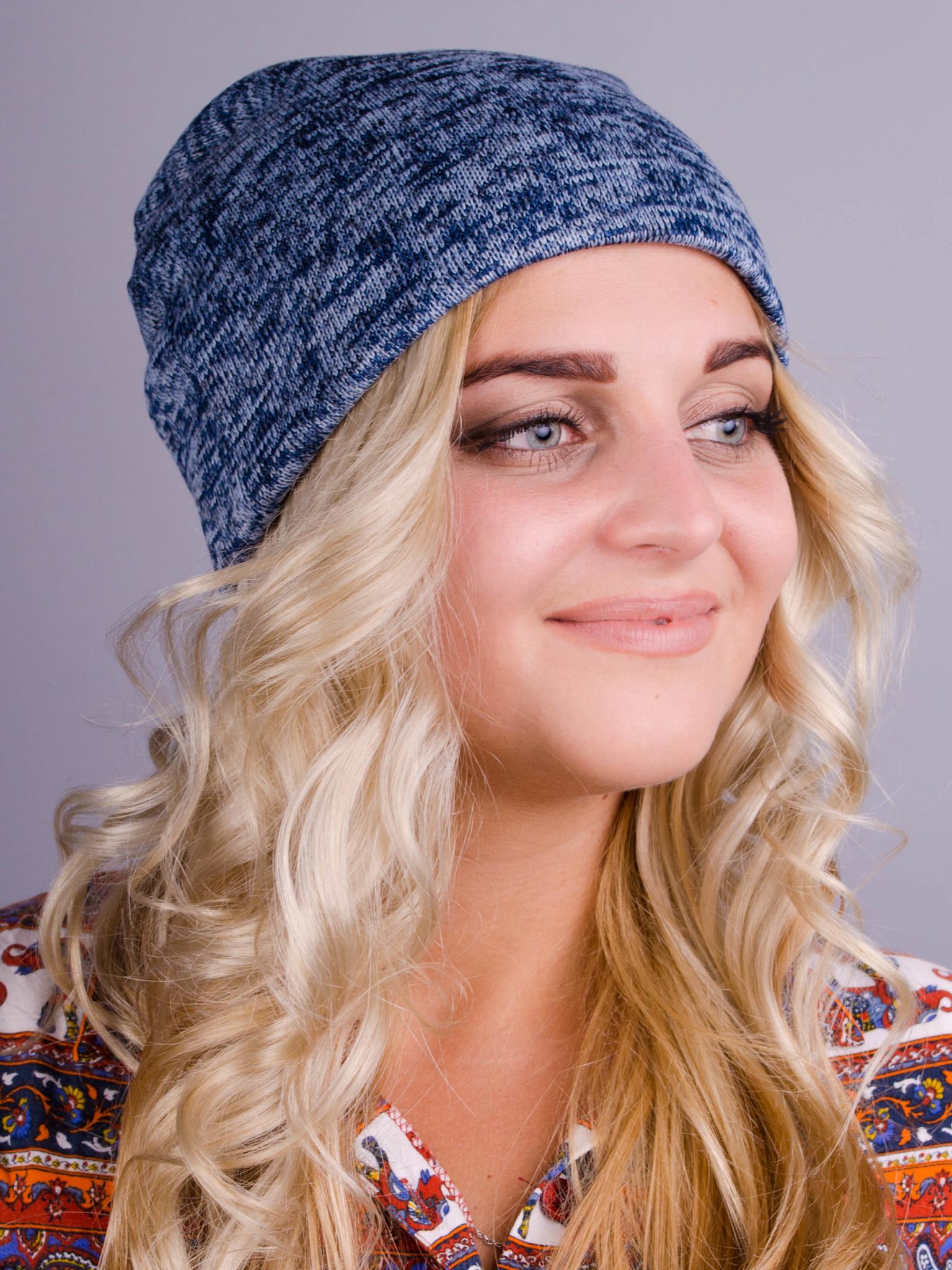 Фешн. Молодіжні жіночі шапки. Блакитний ангора фліс. 347856abfeae3