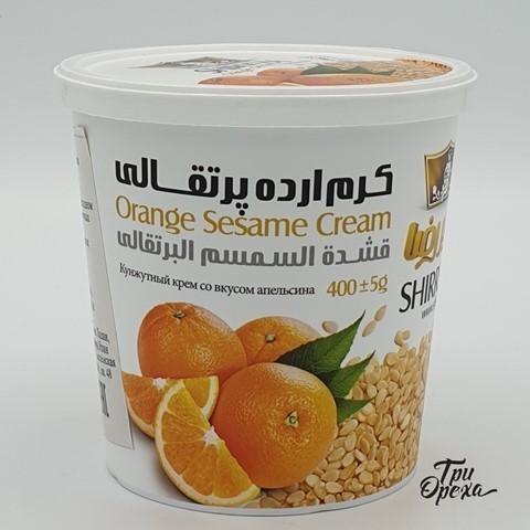 Кунжутная паста со вкусом Апельсина, Тахини, Shirreza, 400 гр