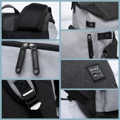 Рюкзак-торба молодёжный для города КАКА 2238 серо-чёрный
