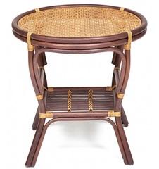 Стол кофейный PELANGI / плетеная столешница / — коричневый