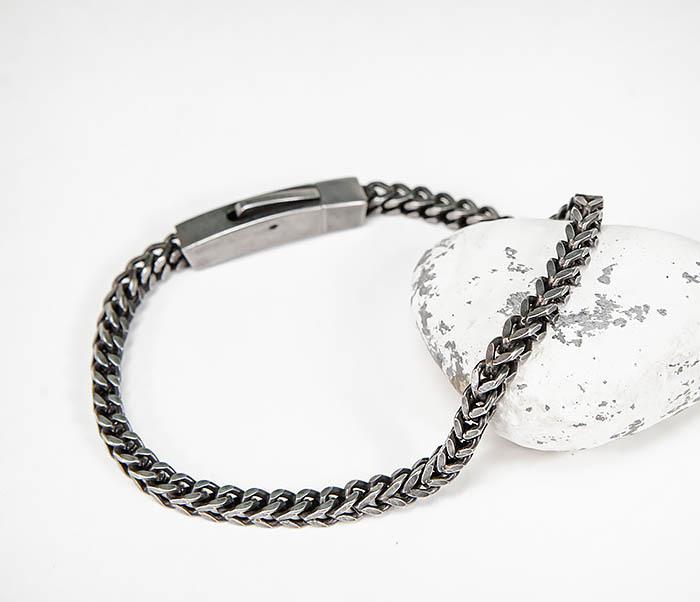 BM578 Тонкий браслет цепочка квадратного сечения