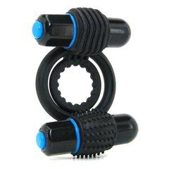Эрекционное вибро кольцо OPTIMALE Vibrating Double C-Ring (d. 2 см)
