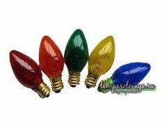 Цветная лампочка накаливания на 15 ватт