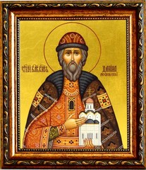 Даниил Московский Cвятой благоверный князь. Икона на холсте.