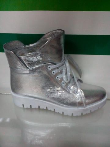 Ботинки женские зимние, серебристые EL PASSO 23