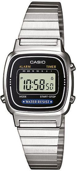 a7bcbba5 Купить Женские наручные электронные часы Casio LA670W-1 по доступной цене  ...