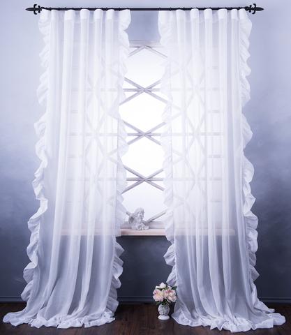 Готовая штора Бэтси белый