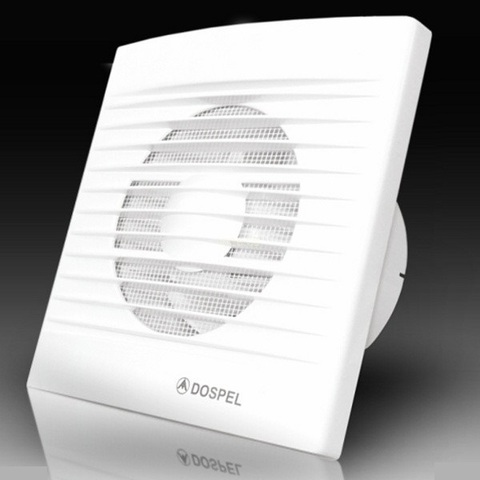 Вентилятор накладной Dospel Styl 200 WP (со шнурком вкл/выкл, электрокабель)