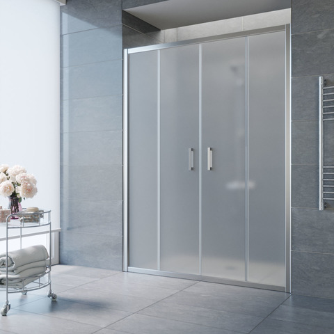Душевая дверь в нишу Vegas Glass Z2P профиль глянцевый хром, стекло сатин