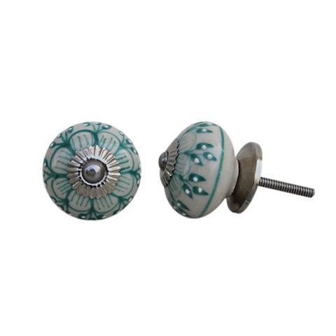 Ручка мебельная керамическая  расписная √7, 00001207