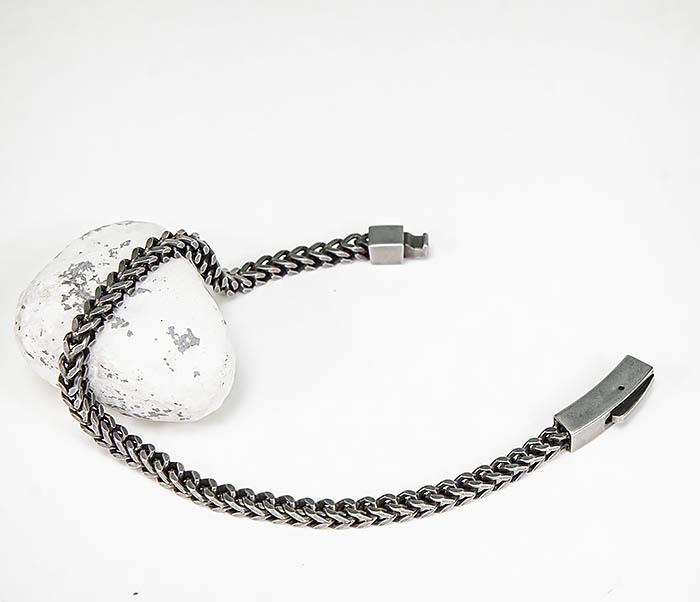 BM578 Тонкий браслет цепочка квадратного сечения фото 02