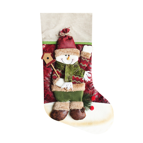 Носок для подарков Snowman