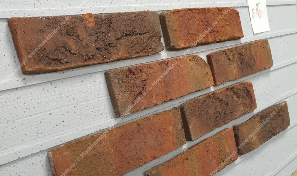Roben, облицовочная клинкерная плитка ручной формовки, Formback, графитово-пёстрый (graphit-bunt), NF