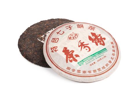 Шу Пуэр Ча Сян Юань   / блин 400 г, фаб. Пу Вэн, 2005г.