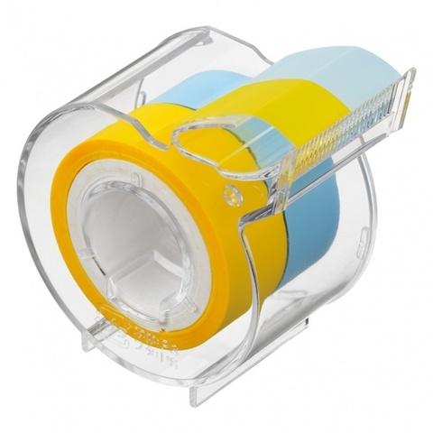 Диспенсер Yamato Memoc Roll Tape Film Type 15 мм - Yellow/Pearl Blue