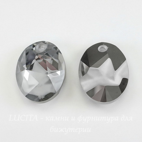 6911 Подвеска Сваровски Kaputt Oval Crystal Light Chrome (26 мм)