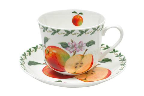 Чашка с блюдцем Яблоко в подарочной упаковке