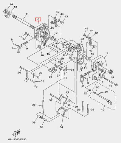 Скоба струбцина правая для лодочного мотора F20 Sea-PRO (19-6)