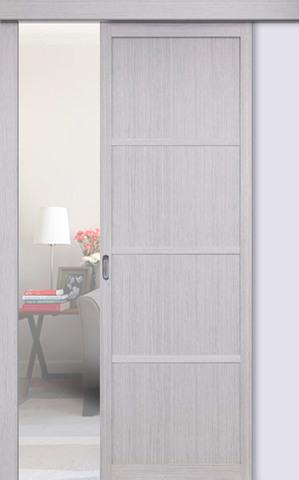 Перегородка межкомнатная Optima Porte 104.1111, цвет дуб серый, глухая (за 1 кв.м)