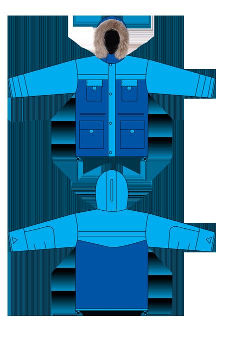Выкройка костюма путник куртка технический рисунок