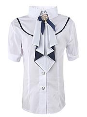 0291 блузка детская, белая