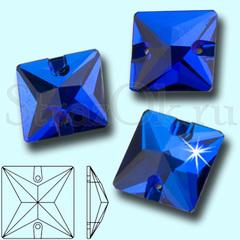 Купите стразы оптом квадратные Sapphire синие в Москве