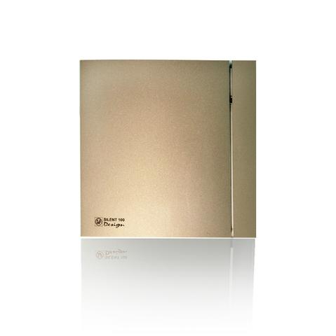 Вентилятор накладной S&P Silent 100 CRZ Design 4С Champagne (таймер)