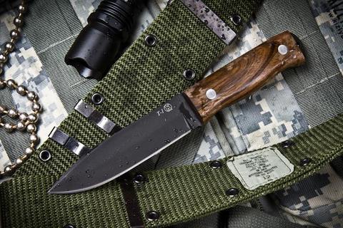 Туристический нож Т-1 Черный Орех z60