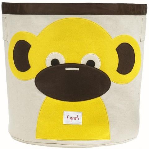 Купить корзину для игрушек 3 Sprouts Жёлтая обезьянка 67541