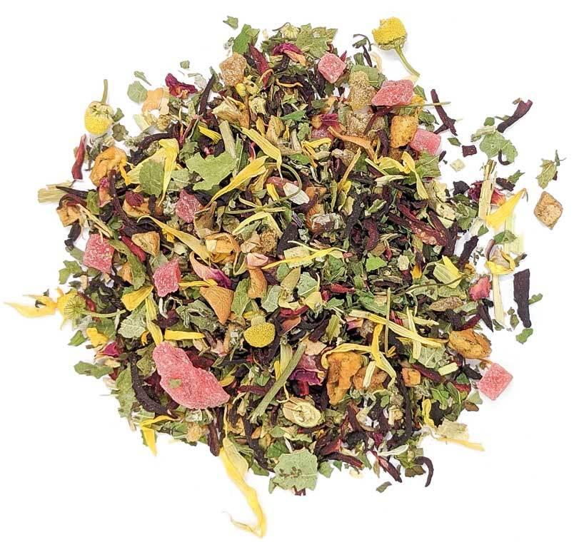 """Ароматизированный фруктовый, травяной, ягодный чай """"Малина с мятой"""" чай фруктово-травяной, тизан, 100 гр Malina_s_Miatoy.jpg"""